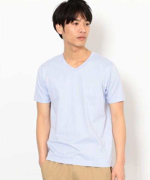 CM オーガニックコットン クリア Vネック Tシャツ ◆