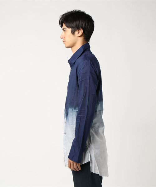 KMRii/ケムリ/GRADATION SHIRT/LS