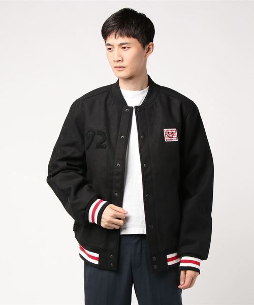 ELEMENT メンズ  【ELEMENT KEITH HARING COLLECTION】KH LETTERMAN JACKET ジャケット