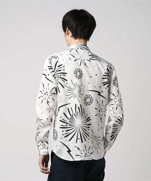 ビッグシルエットファイヤーワークスプリント長袖シャツ(BG)