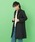 Jocomomola(ホコモモラ)の「キラリンピーチ Aラインカラーコート(ステンカラーコート)」|ブラック