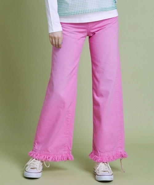 LittleSunnyBite/リトルサニーバイト/Original colored denim washed pants/デニムパンツ