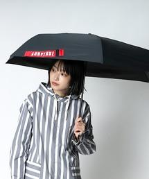 【 CONVERSE / コンバース 】 晴雨兼用 ユニセックス折りたたみ日傘 CON-MT-58M OGW ・・ブラック×レッド