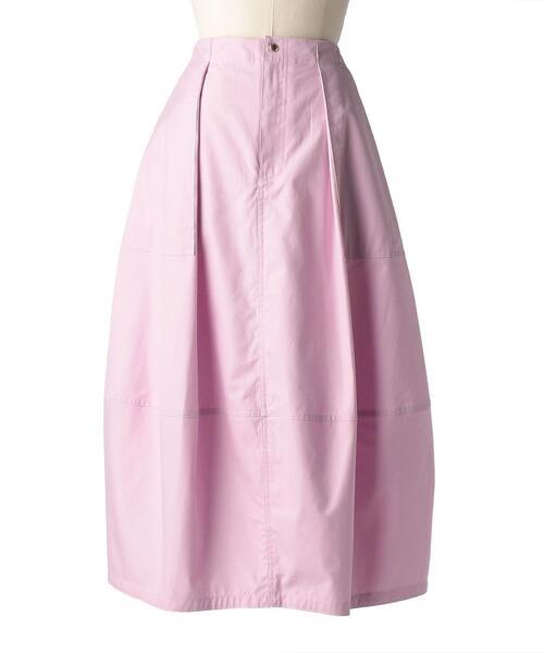 Drawer コットンギャバジンウェストギャザースカート