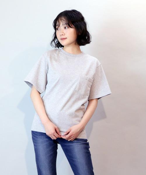 【Goodwear/グッドウェア】7.2ozクルーネックポケットTシャツ  ボックスシルエット オックスカラー