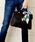florist(フローリスト)の「【2way】スカーフ付きフラップハンドバッグ/ショルダーバック(ハンドバッグ)」 ブラック