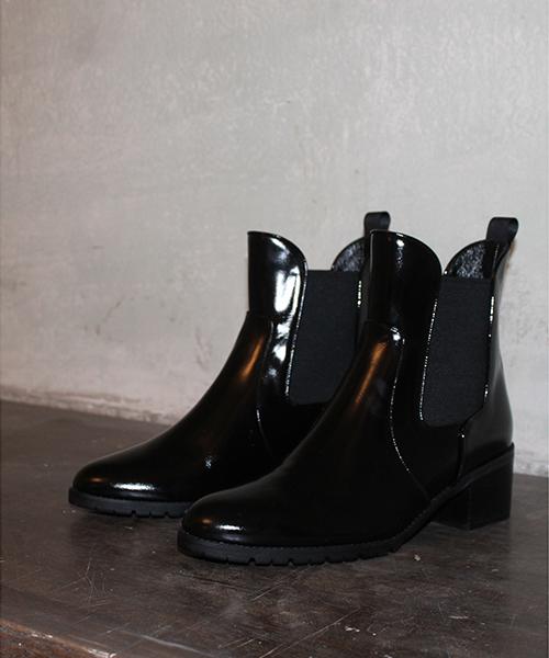 ラウンド  サイドゴアブーツ(ブーツ)|