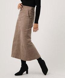 AZUL BY MOUSSY(アズールバイマウジー)のCORDUROY MEDIUM SKIRT/コーデュロイミディアムスカート(スカート)