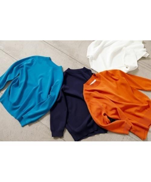 LE CIEL BLEU(ルシェルブルー)の「Soubari Knit Tops(ニット/セーター)」|ネイビー