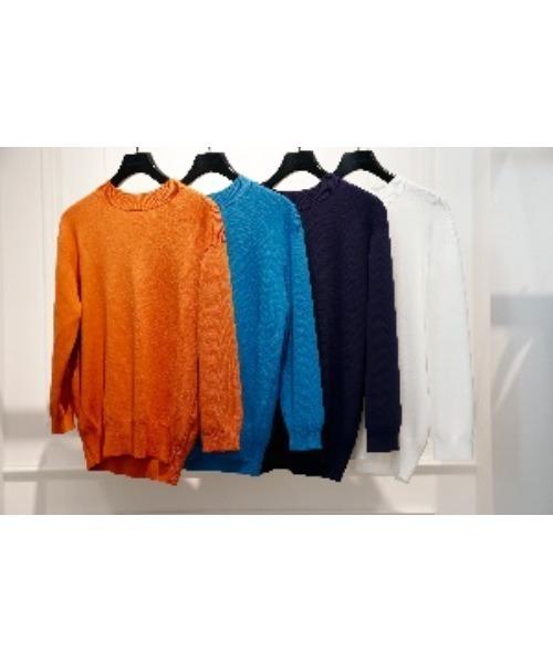 LE CIEL BLEU(ルシェルブルー)の「Soubari Knit Tops(ニット/セーター)」|オフホワイト