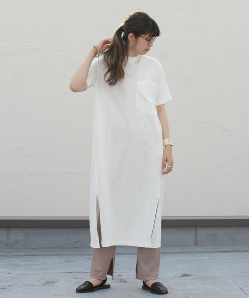 unfil/アンフィル オーガニックコットンシャツドレス ORGANICCOTTON SHIRT DRESS