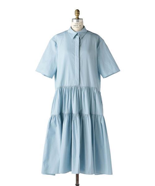 〈CECILIE BAHNSEN(セシリー バンセン)〉 SHIRT DRESS