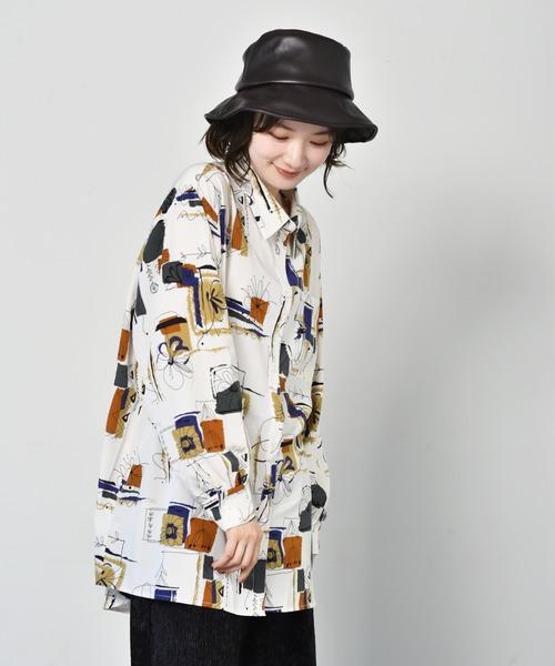 ペイント柄BIGシャツ