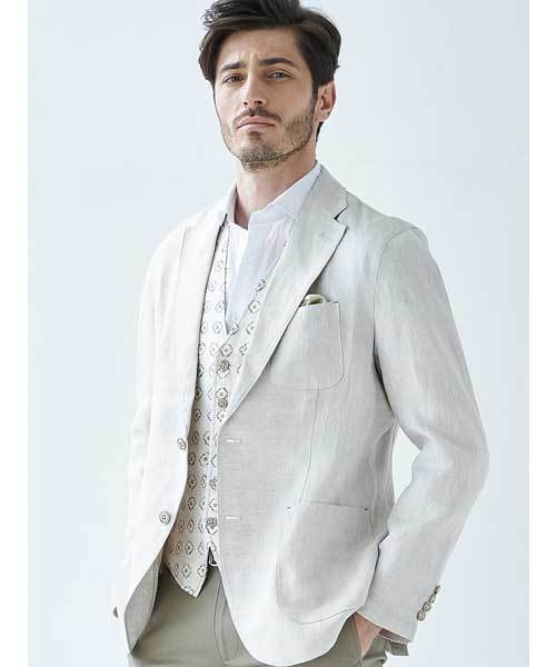 卸売 【セール】麻100%バックプリントジャケット(テーラードジャケット)|g-stage(ジーステージ)のファッション通販, クチコミ堂:57f5cb4e --- wm2018-infos.de