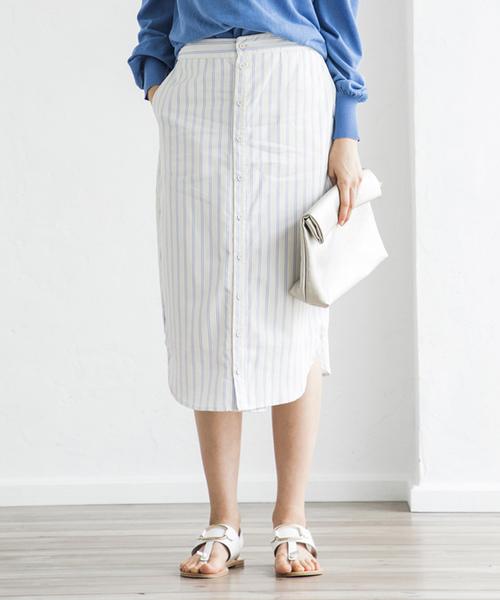 【STYLEBAR】エマストライプシャツスカート