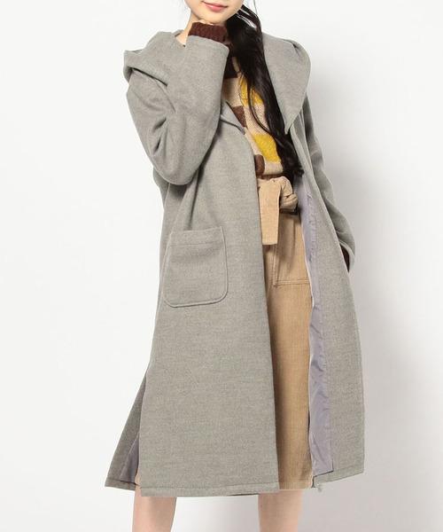 フード付ロングコート