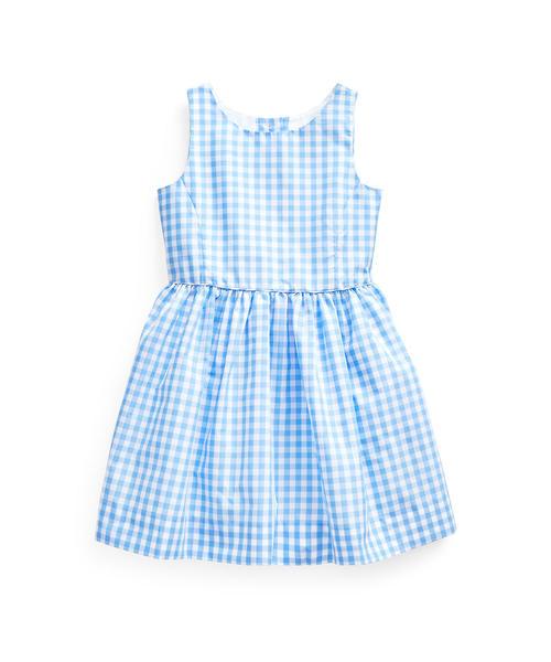 チェッカード フィット&フレア ドレス