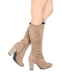 Mafmof(マフモフ)のMafmof(マフモフ) ストーン付きヒールのロングブーツ(ブーツ)