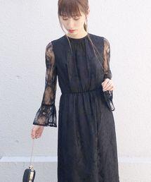 kaene(カエン)のペプラムスリーブワンピース(ドレス)