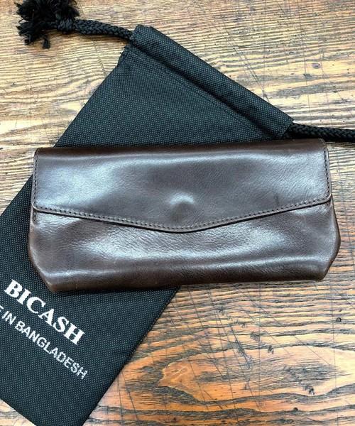 BICASH(ビカーシ)の「【BICASH/ビカーシ】レザーロングウォレット/#B616(財布)」 ダークブラウン