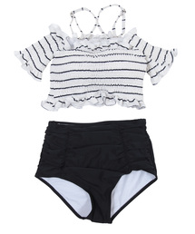 SEA DRESS(シードレス)のオフショルダーシャーリングビキニ/水着(水着)