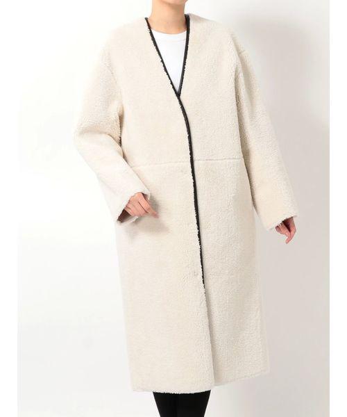 【特別訳あり特価】 リバーシブルボアノーカラーコート(その他アウター)|MERCURYDUO(マーキュリーデュオ)のファッション通販, TORI-DORI:1420be07 --- tsuburaya.azurewebsites.net