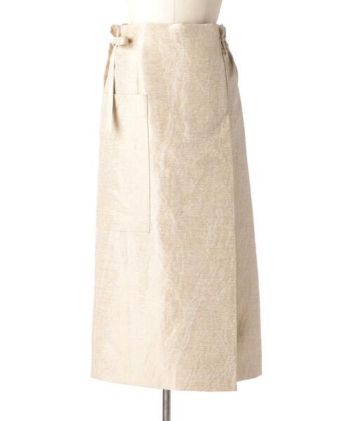 Drawer ミックスベージュラップリボンスカート
