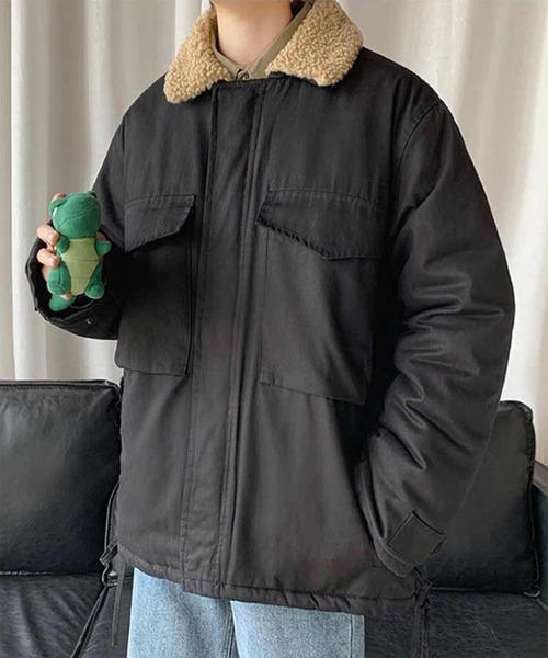メンズ襟ボアカバーオールジャケット