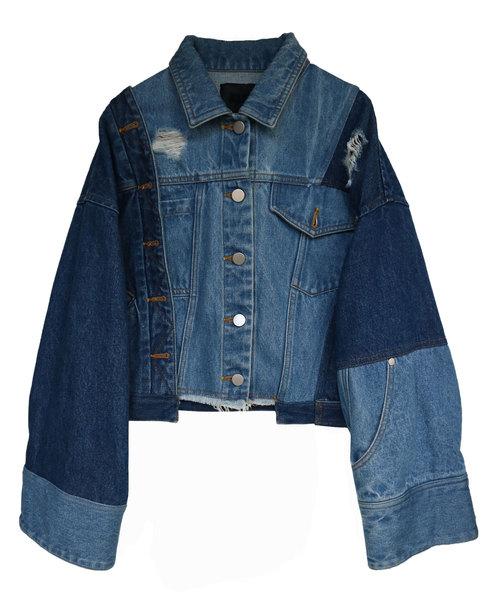 お気にいる 【アウラ】リメイクデニムジャケット(デニムジャケット)|AULA(アウラ)のファッション通販, カミシマリビングストア:84e594fe --- blog.buypower.ng