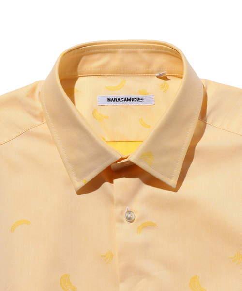 ジャカード織柄長袖シャツ