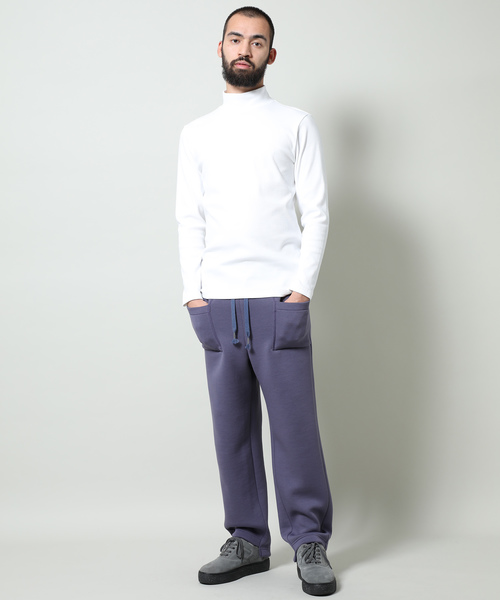 フライスハイネックインナーロングTシャツ