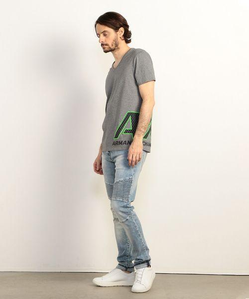 【A|Xアルマーニ エクスチェンジ】AXロゴ Vネック半袖Tシャツ