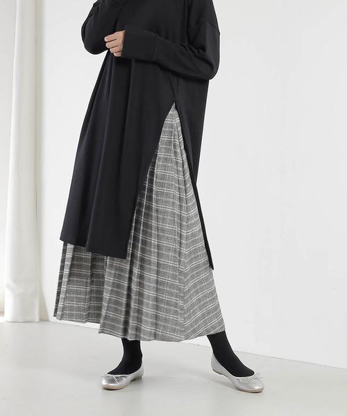 魅了 「KELEN/ ケレン」フロントプリーツ&バックギャザーブリティッシュスカート