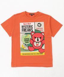HYSTERIC FREAKS pt Tシャツ【L】オレンジ