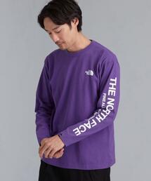 [ ザ ノースフェイス ] THE NORTH FACE SQRE ロゴ 長袖 カットソー Tシャツ