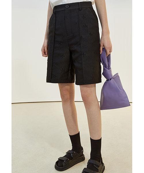 【Fano Studios】【2021SS】Flower embroidery shorts FX21K012