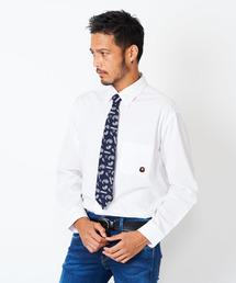 BUCCA 44(ブッカフォーティーフォー)の【BUCCA 44】ワンポイントベア刺繍ボタンダウンシャツ(シャツ/ブラウス)