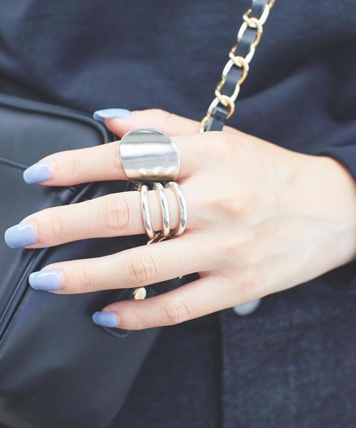 ○ANNIKA INEZ(アニカ イネス)変形ワイドリング / 指輪