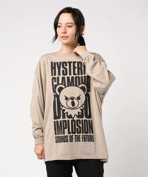 BEAR IMPLOSIONオーバーサイズTシャツベージュ