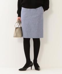 <closet story>□フクレジャガード タイトスカート -手洗い可能-