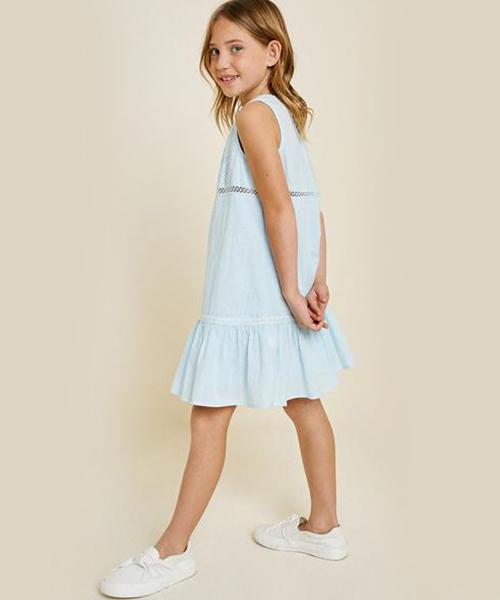 HAYDEN GIRL ヘイデンガール レースラッフルタンクドレス G7008