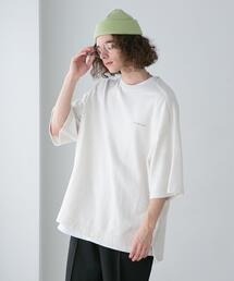 FEELING MADE  ソフトミニ裏毛 パイピング ショートスリーブ Tシャツ