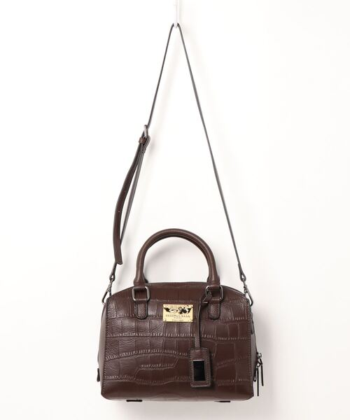 CRYSTAL BALL(クリスタルボール)の「Cow leather Carre bag(ハンドバッグ)」|ダークブラウン