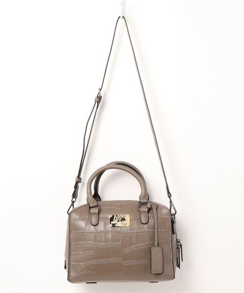 CRYSTAL BALL(クリスタルボール)の「Cow leather Carre bag(ハンドバッグ)」|グレー