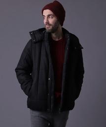 OAKLAND(オークランド)の「フェイクウールスクエアキルティング中綿ジャケット フード脱着BLZ(ダウンジャケット/コート)」