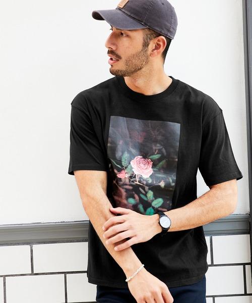 ロゴ オーバーサイズ  クルーネック 半袖 Tシャツ / グラフィック アート