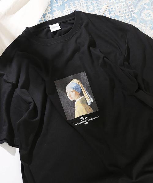 別注ART TEE 'GIRL WITH A PEARL EARING'/アートTシャツ/半袖Tシャツ