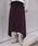 Munich(ミューニック)の「片畦編みニット イレギュラーヘムフレアスカート(スカート)」|ダークパープル
