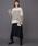 Munich(ミューニック)の「片畦編みニット イレギュラーヘムフレアスカート(スカート)」|詳細画像