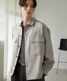 TRストレッチ スーツ地 オーバーサイズ CPO シャツ ジャケット/ドレープCPOシャツJKTライトグレー